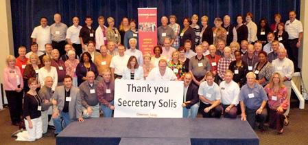 Thank you Secretary Solis